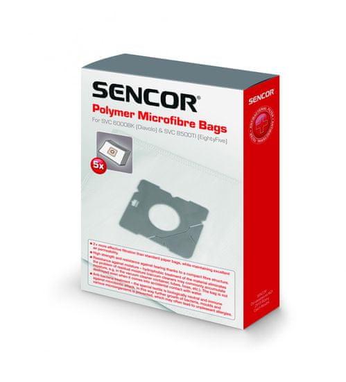 SENCOR vrečke za sesalnik SVC 6000BK/8500TI/6001BK/8501TI, 5 kosov
