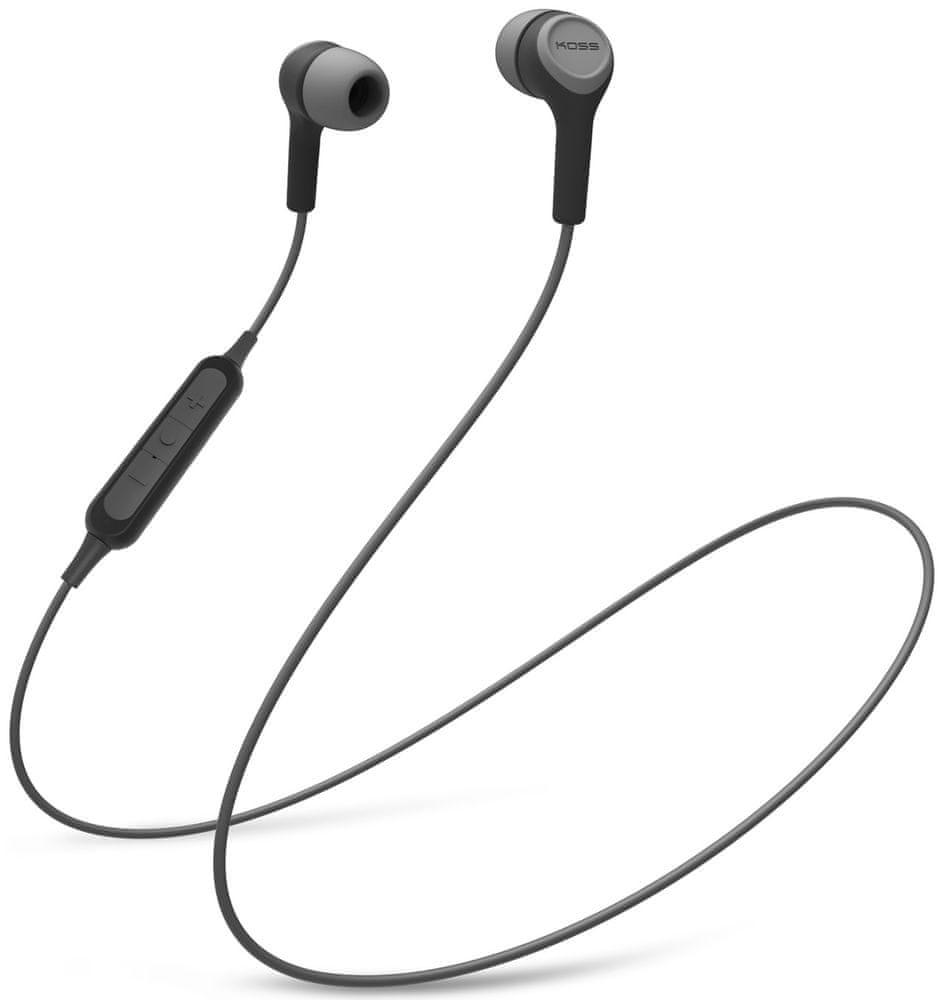 KOSS BT115i bezdrátová sluchátka, šedá