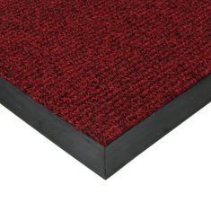 FLOMAT Červená textilní zátěžová čistící vnitřní vstupní rohož Catrine, FLOMAT - 1,35 cm
