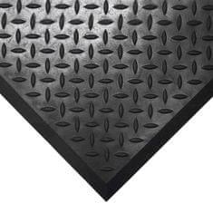 Černá gumová protiskluzová průmyslová modulární rohož Comfort-Lok - 80 cm, 70 cm a 1,25 cm
