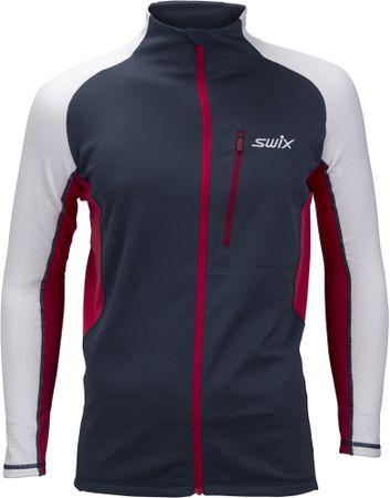 Swix bluza męska Dynamic niebieski/biały XL