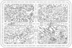 Omalovánky MAXI 120x80 cm Veselý mix