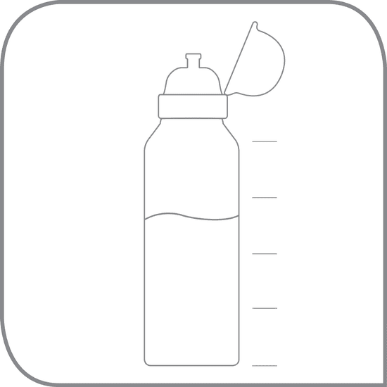 Tefal KIDS sada dóza plast+fľaša tritan 0,4 L tyrkysová-príšerka K3169214