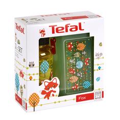 Tefal Zestaw plastikowe pudełko KIDS + butelka tritan 0,4 L żółty – lis K3169414