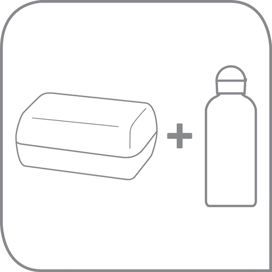TEFAL KIDS készlet műanyag doboz + tritan üveg 0,4 L sárga - róka K3169414