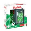TEFAL KIDS készlet műanyag doboz + tritan üveg 0,4 L zöld - foci K3169314