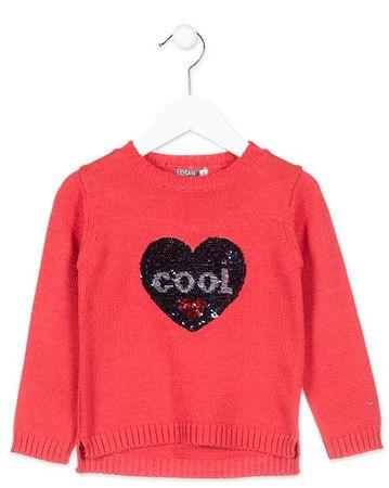 Losan dívčí svetr 92 červená