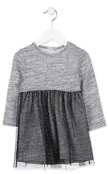 Losan dívčí šaty 98 šedá