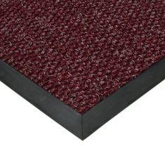 FLOMAT Červená textilní zátěžová čistící vnitřní vstupní rohož Fiona, FLOMAT - 1,1 cm