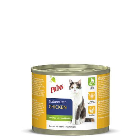 Prins mačja konzerva NatureCare, piščanec, 200 g
