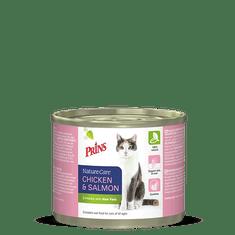 Prins mačja konzerva NatureCare, piščanec in losos, 200 g