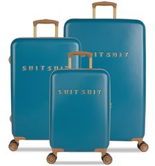 SuitSuit komplet potovalnih kovčkov TR-7102/3 - Fab Seventies Seaport Blue, modri