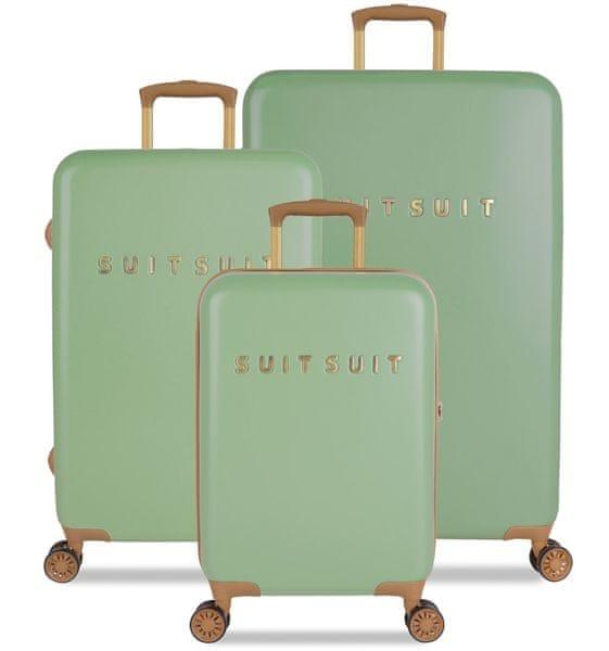SuitSuit Sada cestovních kufrů TR-7103/3 - Fab Seventies Basil Green