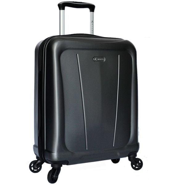 Sirocco Cestovní kufr T-1213/1-S ABS - šedá