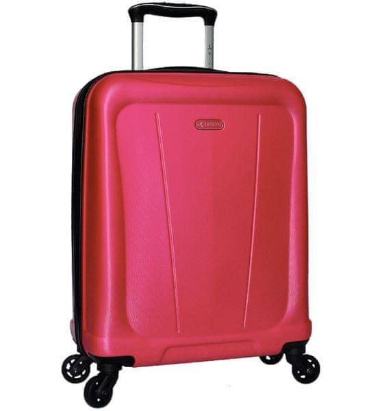 Sirocco Cestovní kufr T-1213/1-S ABS - růžová