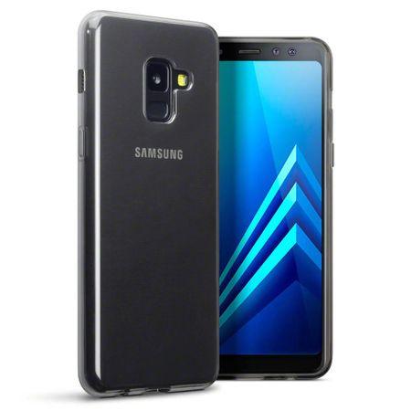 Ultra tanek silikonski ovitek za Samsung Galaxy A8 in Galaxy A5 2018 , prozorno črn
