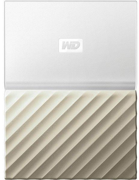 WD My Passport Ultra Metal 4TB, bílá/zlatá (WDBFKT0040BGD-WESN)
