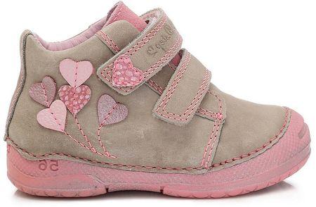 D-D-step G dievčenské členkové topánky 19 béžová