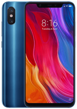 Xiaomi Mi 8, 6GB/128GB, Global Version, Blue