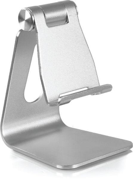 DESIRE2 univerzální hliníkový stojánek pro mobilní telefony, stříbrný WTT-AS05SI