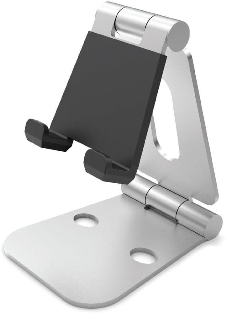 HOLRTSI univerzální hliníkový stojánek pro mobilní telefony a tablety, stříbrný HOLRTSI