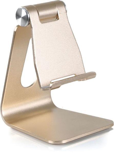 DESIRE2 univerzální hliníkový stojánek pro mobilní telefony, zlatý WTT-AS05GD