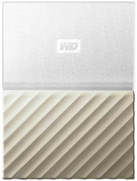 WD My Passport Ultra Metal 2TB, bílá/zlatá (WDBTLG0020BGD-WESN)