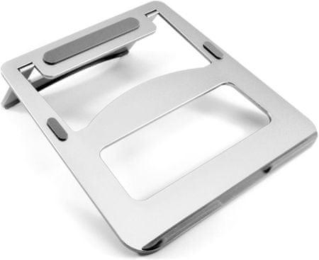 DESIRE2 přenosná hliníková podložka pod notebook, stříbrná WTT-AS02SI
