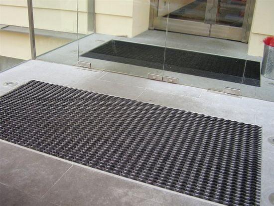 FLOMA Gumová hliníková venkovní vstupní rohož FLOMA Alu Wave - 2,8 cm