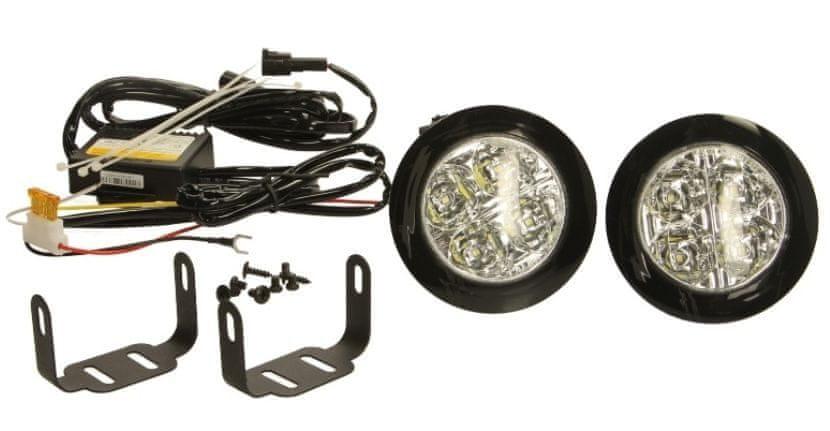 M-Tech LED světla pro denní svícení 12V 4xLED, kulaté