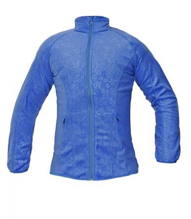 Červa Fleece mikina Yowie dámska modrá XL  669e16b372