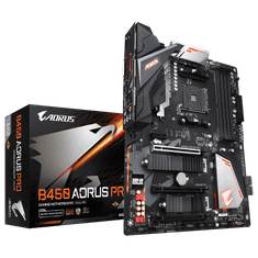 Gigabyte osnovna plošča B450 AORUS PRO (1.0), DDR4, USB 3.1 Gen 2, AM4, ATX