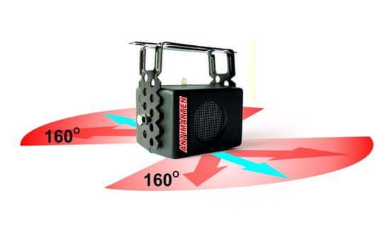 MAMMOOTH Ultrazvukový plašič hlodavců, montáž v podkroví, na střeše, ve vyzdívce, 230 V, počet zařízení: 1 ks, počet reproduktorů: 2 ks