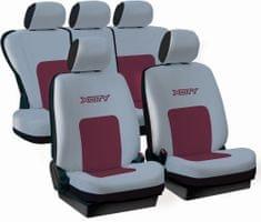 Tech prevleke za sedeže X-City, sive-bordo