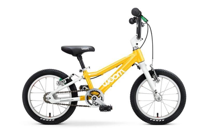 """Woom 2 Yellow 14"""" dětské kolo"""