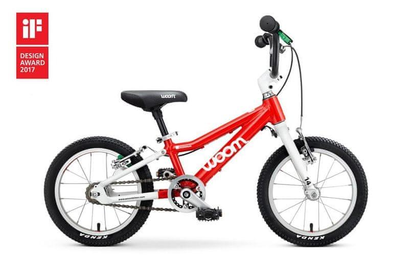 """Woom 2 Red 14"""" dětské kolo"""