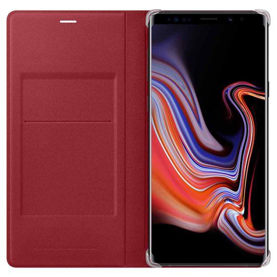 Samsung usnjena preklopna torbica za Samsung Galaxy Note 9, rdeča