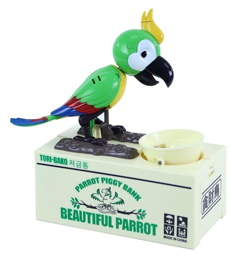 Rappa Pokladnička hladový papoušek - různé barvy - zánovní