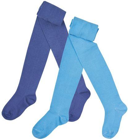 Garnamama dívčí set 2ks punčocháčů 68 - 74 modrá/tmavě modrá