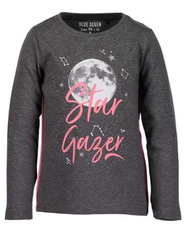 Blue Seven dívčí tričko Moon 92 sivá