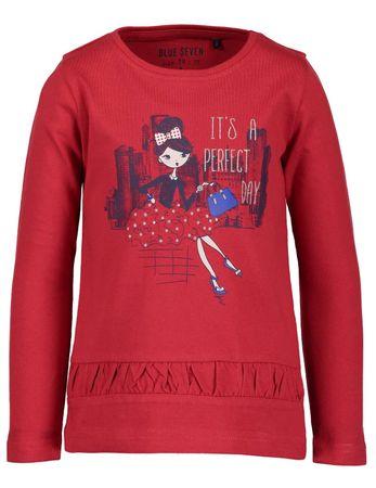Blue Seven dívčí tričko 92 červená