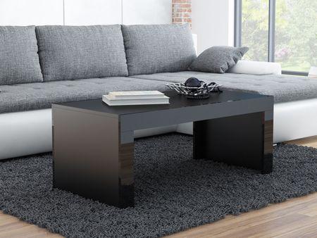 Konferenční stolek TIESS, černý mat/černý lesk