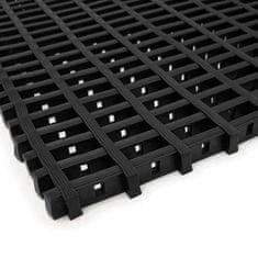 Černá olejivzdorná protiskluzová průmyslová univerzální rohož (mřížka 22 x 10 mm) - 1,2 cm