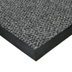 FLOMAT Šedá textilní zátěžová čistící vnitřní vstupní rohož Fiona, FLOMAT - 1,1 cm