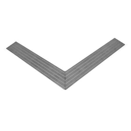 Hliníkový náběhový rám pro vstupní rohože a čistící zóny 100 x 150 cm - 4,5 x 1 cm