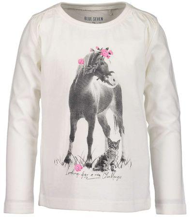 Blue Seven koszulka dziewczęca z koniem 98 biała