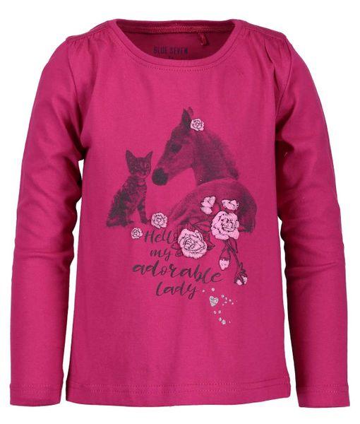 Blue Seven dívčí tričko s koněm 92 purpurová