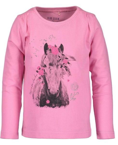 Blue Seven dívčí tričko s koněm 92 růžová