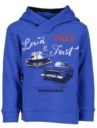 e8dd075c1fb Blue Seven chlapecká mikina s auty 92 modrá