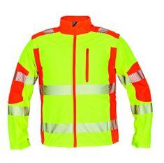 Červa Reflexná softshellová bunda a vesta Latton žltá/oranžová S